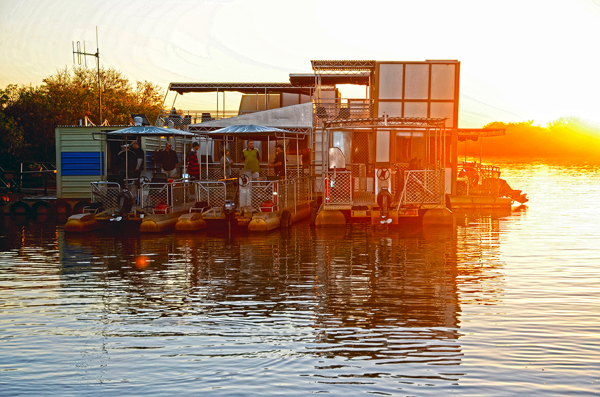Houseboats on Corroboree Billabong, NT.