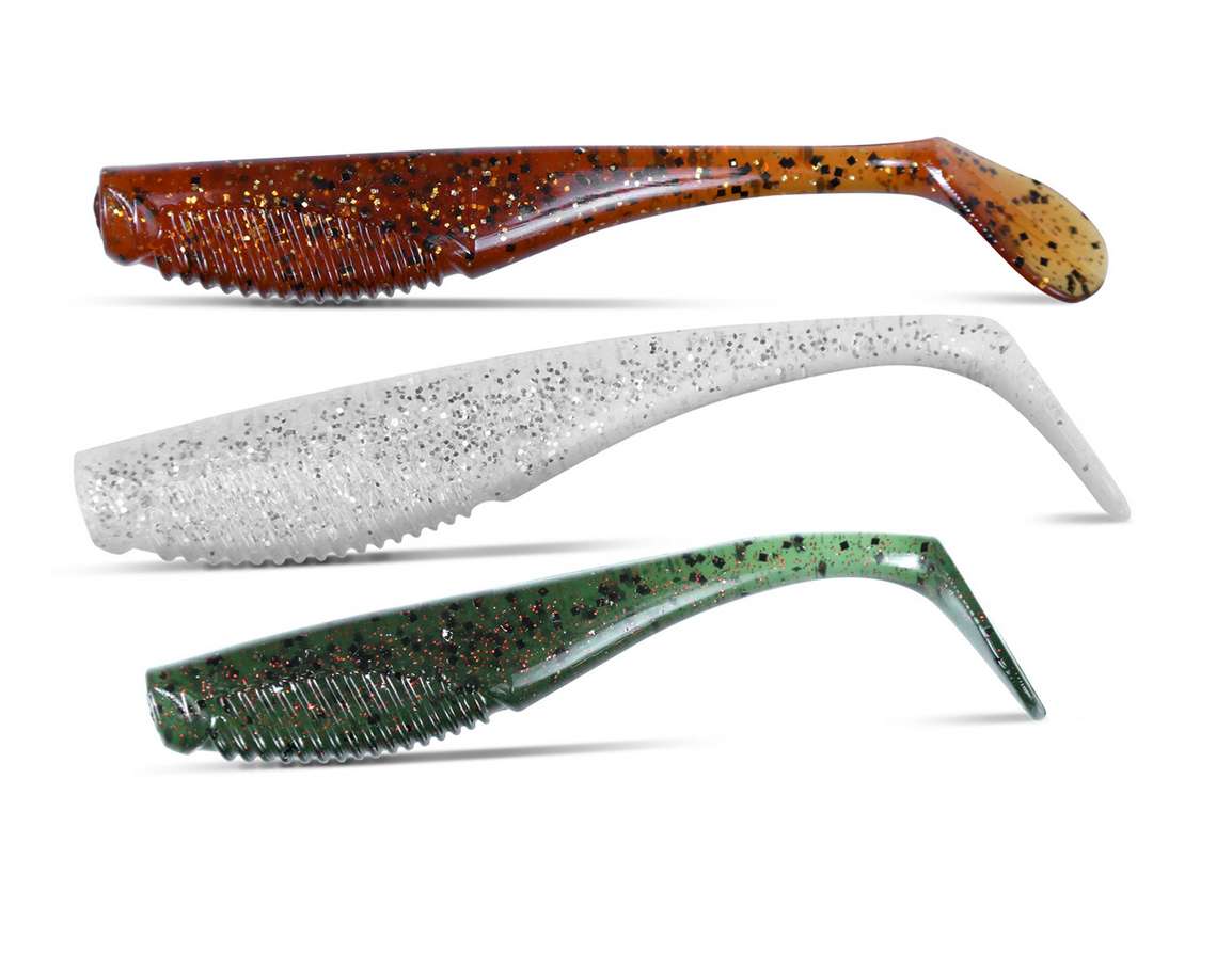 Plastics with T-tailed designs have a stronger, more pronounced action.